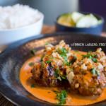 Indiske kjøttboller med kremet saus