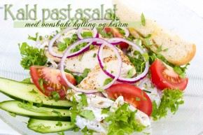 Kald pastasalat med ovnsbakt kylling og kesam photoshop