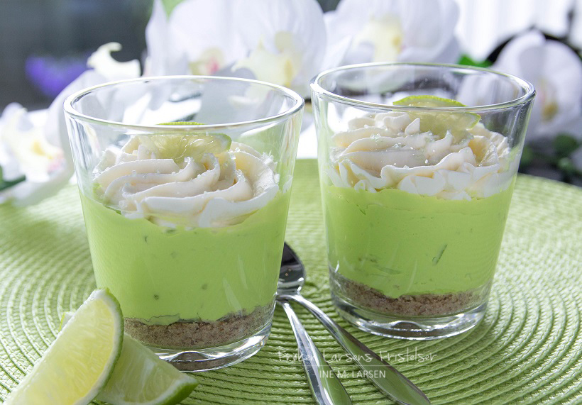 No-Bake Lime Cheesecake shots (uten sukker)-2 - Copy
