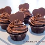 Sjokolade cupcakes med fluffy nutella frosting