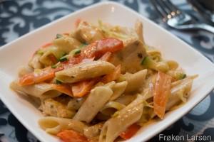 Kremet pasta med kylling og cajun