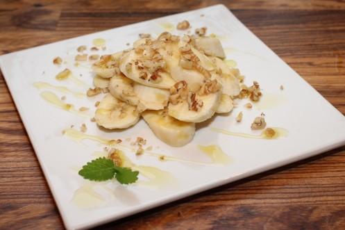 Banan med lime og valnøtt